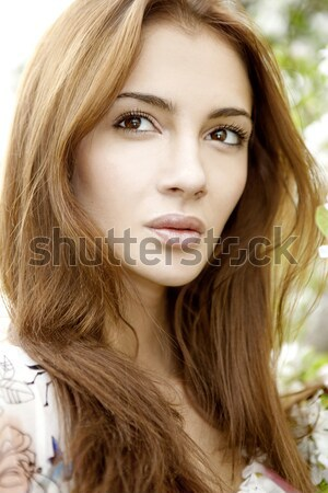 portrait beautiful brunette Stock photo © bartekwardziak