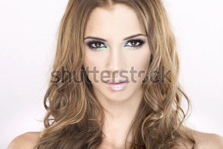 beauty concept before and after contrast Stock photo © bartekwardziak