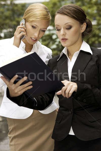 two businesswomen Stock photo © bartekwardziak