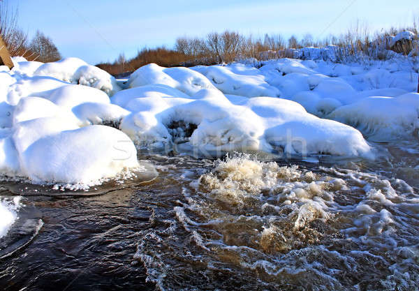 river flow in winter Stock photo © basel101658