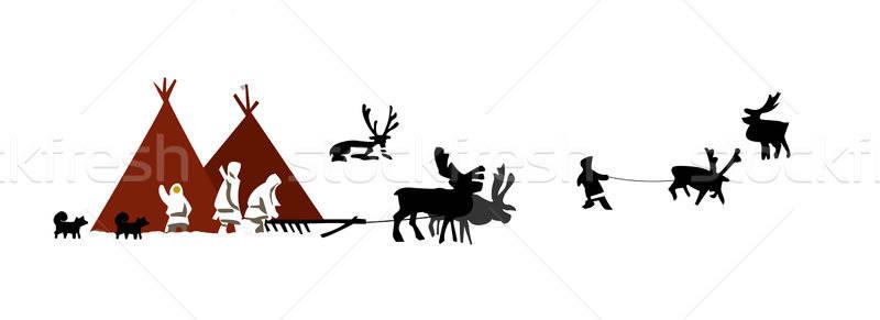 Stok fotoğraf: örnek · insanlar · kuzey · doğa · dizayn · arka · plan