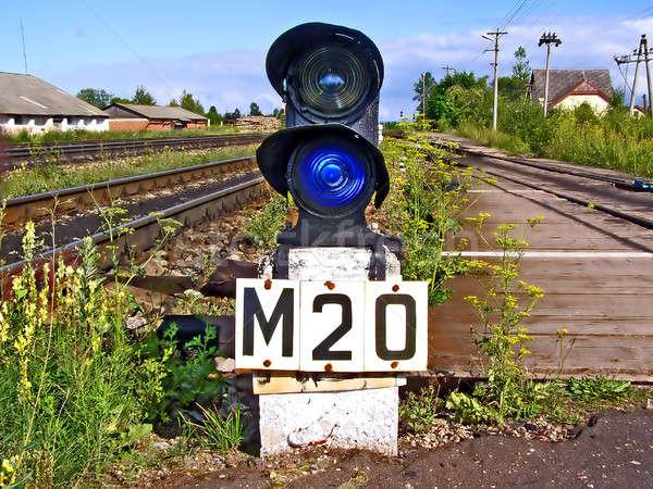 railway semaphore  Stock photo © basel101658