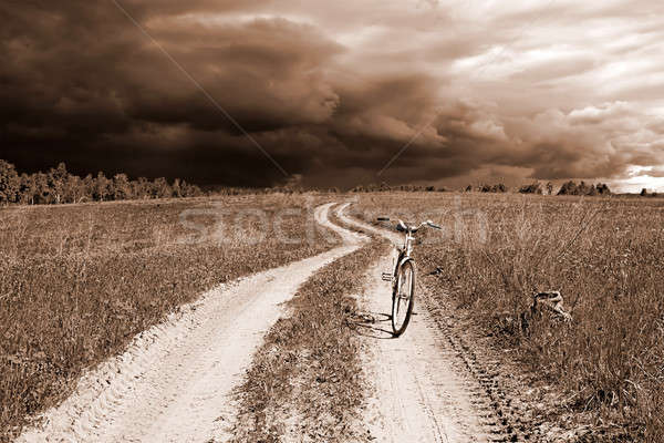 bicycle on rural road Stock photo © basel101658