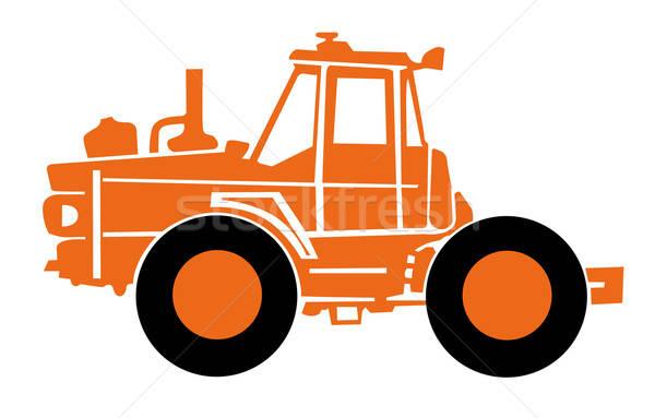 Vecteur orange blanche résumé design rétro Photo stock © basel101658