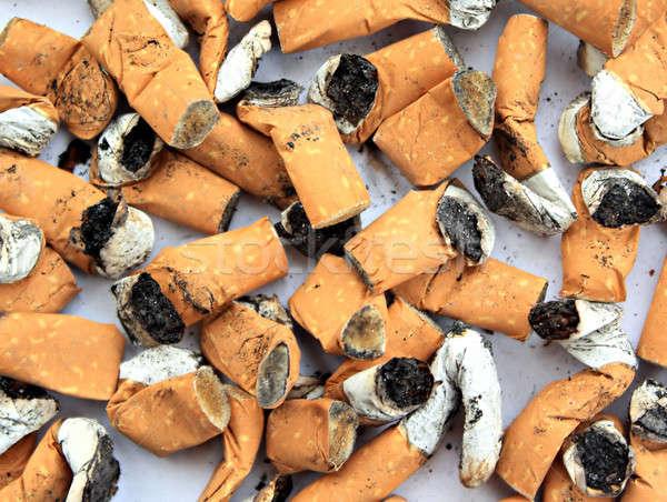 Cigaretta fenék háttér szemét veszély stop Stock fotó © basel101658