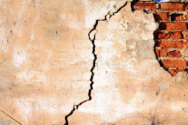 rift on old brick wall Stock photo © basel101658