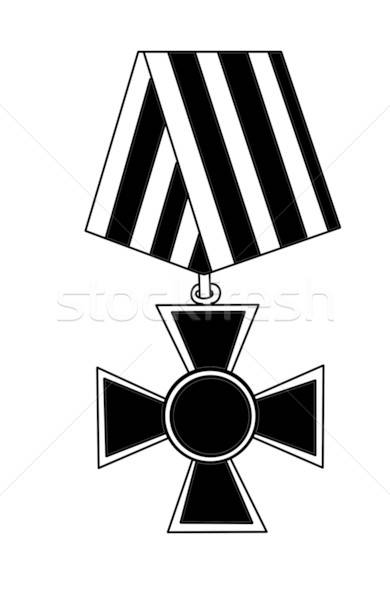 vector silhouette medal on white background Stock photo © basel101658