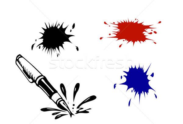 Vettore bianco abstract sfondo pittura nero Foto d'archivio © basel101658