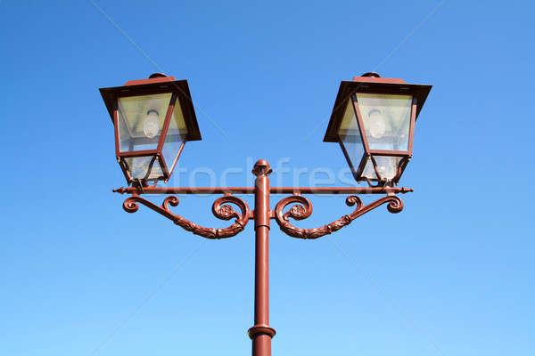 Edad antorcha cielo calle vidrio espacio Foto stock © basel101658