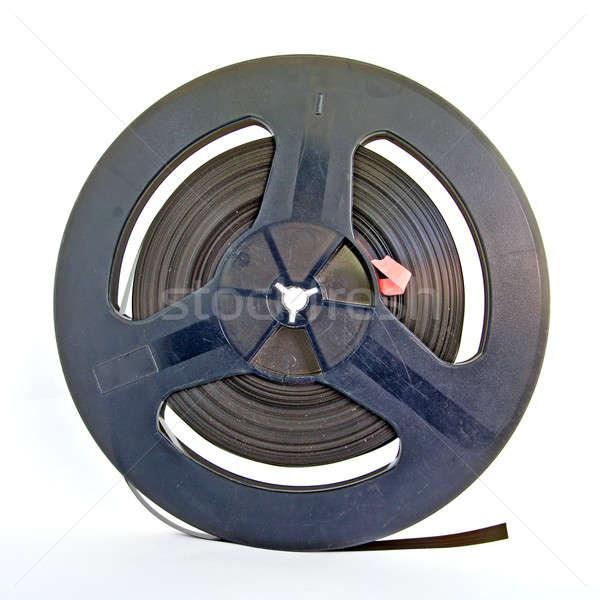 Veroudering tape muziek Blauw retro Stockfoto © basel101658
