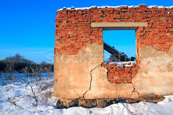 ruined brick house Stock photo © basel101658