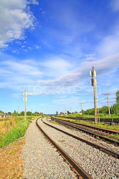 Vasút üzlet út nyár utazás ipar Stock fotó © basel101658