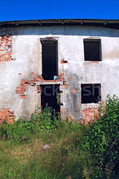 Stock photo: ruined house