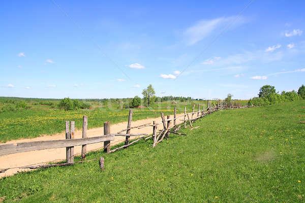 old fence along road Stock photo © basel101658