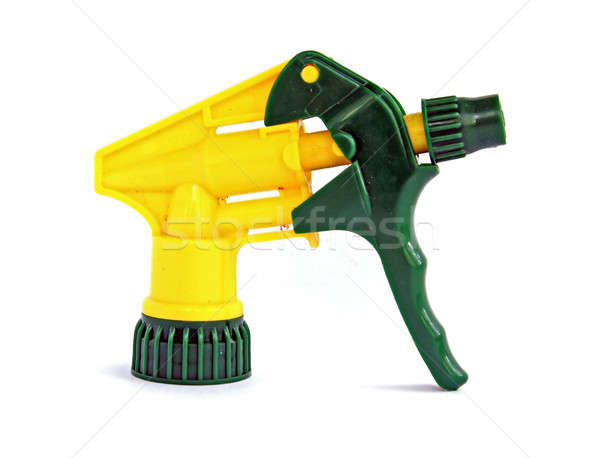 yellow sprayer on white background Stock photo © basel101658