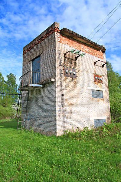 Eski elektrik transformatör teknoloji sanayi Retro Stok fotoğraf © basel101658