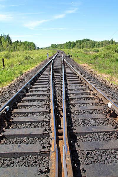 Stock photo: railway