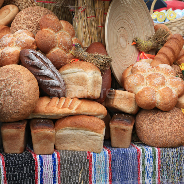 bread on rural market Stock photo © basel101658