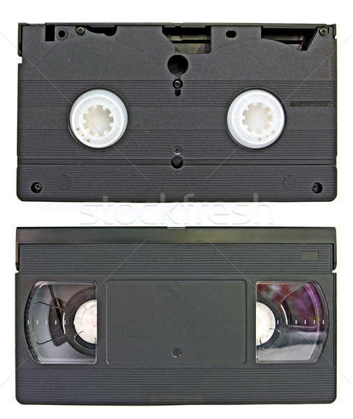 Starzenie się wideo kaseta telewizji domu technologii Zdjęcia stock © basel101658