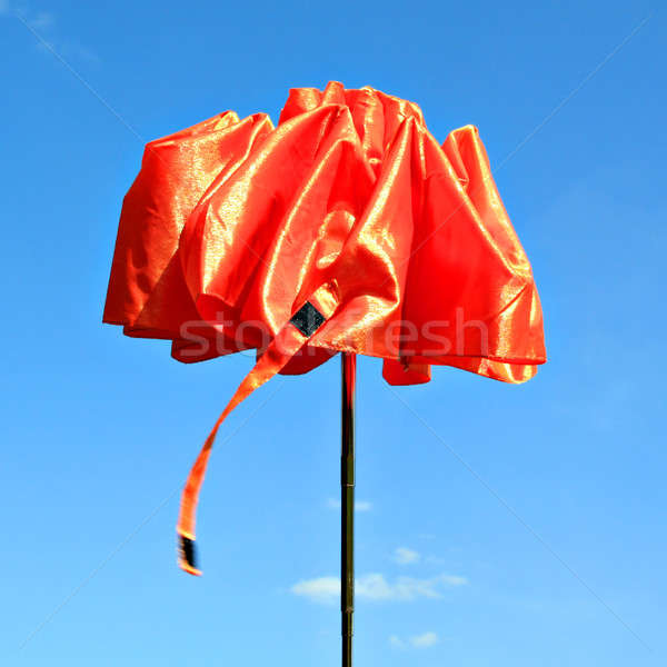 Guarda-chuva papel pintar laranja vermelho brinquedo Foto stock © basel101658