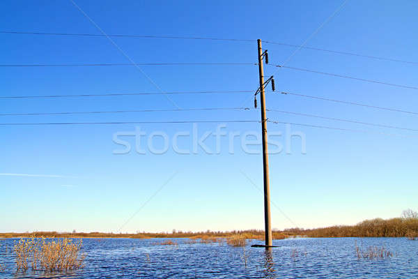 electric pole in water Stock photo © basel101658
