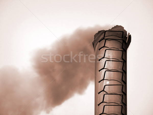smoke from pipe Stock photo © basel101658