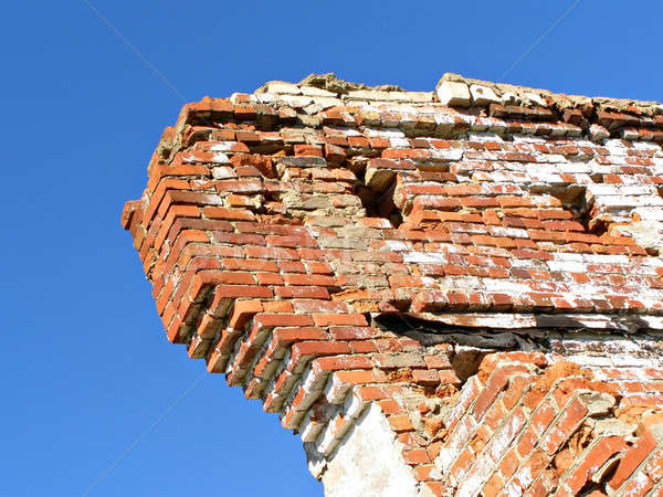 destroyed brick building  Stock photo © basel101658