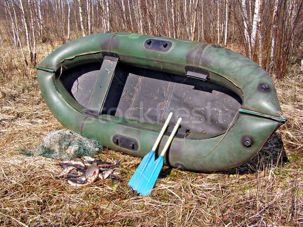 rubber boat on herb       Stock photo © basel101658