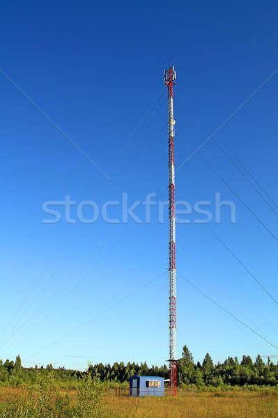 Antena negócio internet televisão tecnologia campo Foto stock © basel101658
