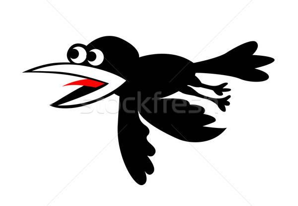 Vecteur silhouette battant blanche résumé nature Photo stock © basel101658