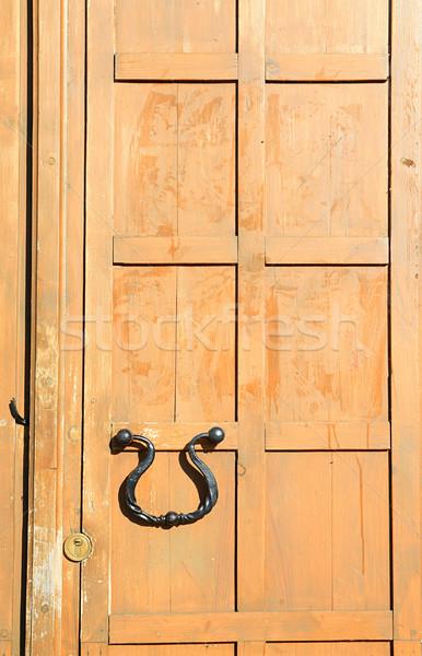 Textúra fa belső építészet zár kilátás Stock fotó © basel101658