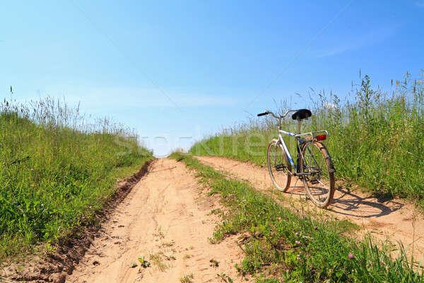 Landelijk weg voorjaar gras natuur landschap Stockfoto © basel101658