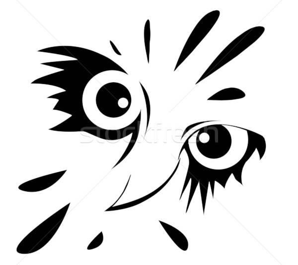 Vetor desenho coruja branco projeto fundo Foto stock © basel101658