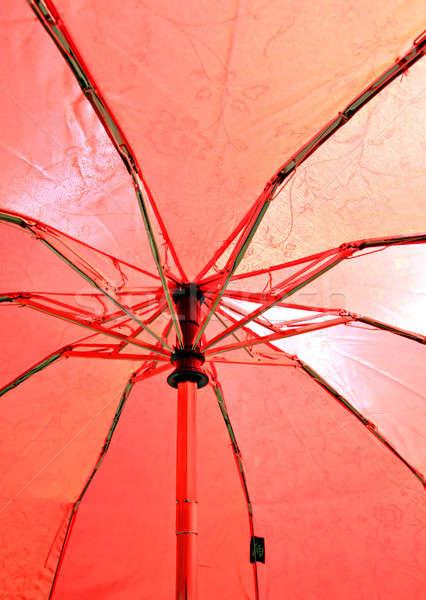 Paraplu hemel papier verf Rood cocktail Stockfoto © basel101658