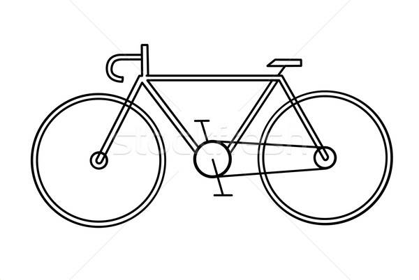 drawing of the bicycle on white background Stock photo © basel101658