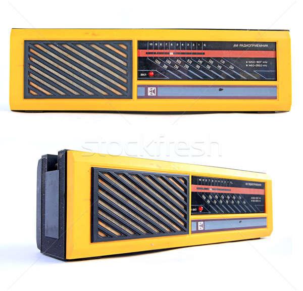 Foto stock: Retro · radio · música · moda · tecnología · fondo