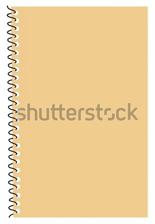 vector silhouette note pad on white background Stock photo © basel101658