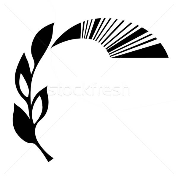 vector ornament on white background Stock photo © basel101658