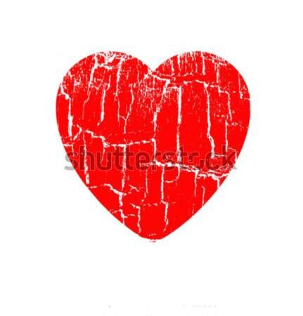 Vector tekening hart liefde ontwerp schoonheid Stockfoto © basel101658