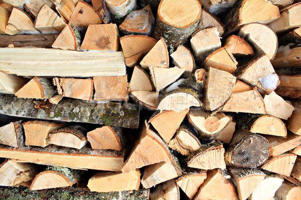 Boglya ház textúra fa erdő természet Stock fotó © basel101658