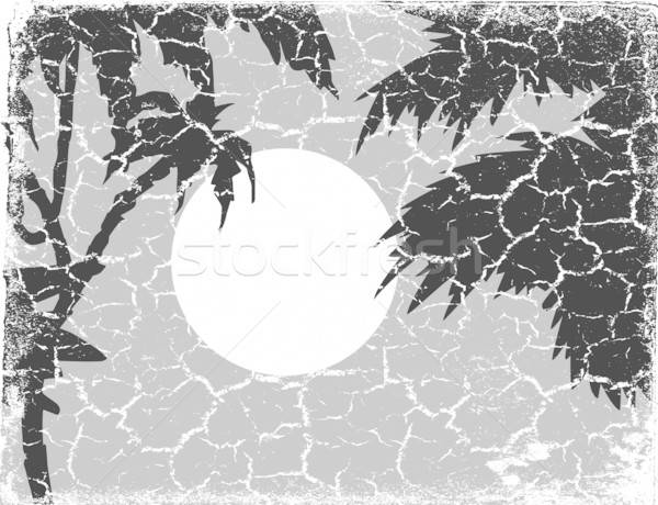 Vector tekening grunge landschap textuur gras Stockfoto © basel101658