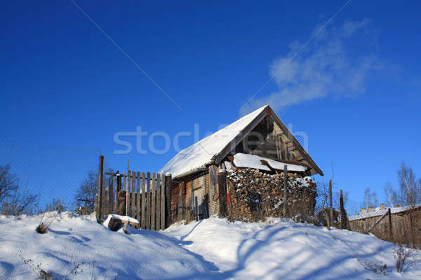 old wooden farmhouse Stock photo © basel101658