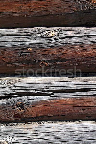 Fából készült fal ház textúra absztrakt gazda Stock fotó © basel101658