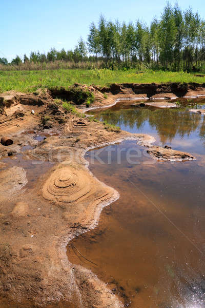old sandy quarry Stock photo © basel101658