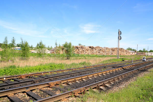 Stock fotó: Vasút · építkezés · fém · forgalom · szállítás · út