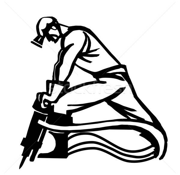 Isolato bianco uomo lavoro design sfondo Foto d'archivio © basel101658