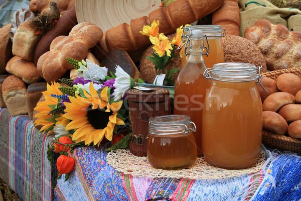 продукции сельский рынке цветок древесины Сток-фото © basel101658