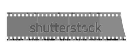 Vector tekening camera film scherm zwarte Stockfoto © basel101658