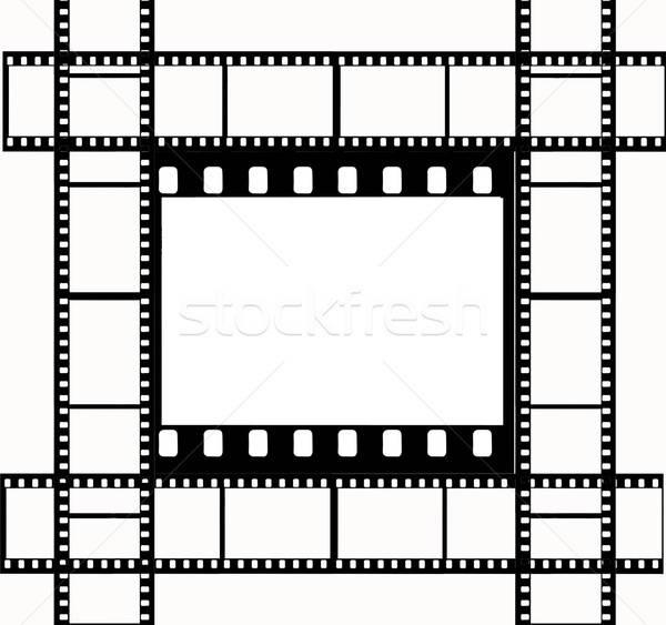 Vektor rajz kamera film űr fekete Stock fotó © basel101658