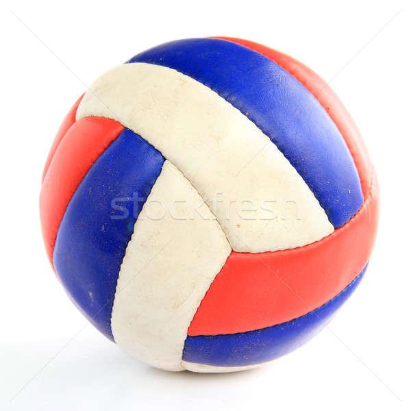 Balón de fútbol blanco baloncesto fútbol fondo juguete Foto stock © basel101658